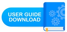Download book button. Concept User guide book for web page, banner, social media. Vector illustration